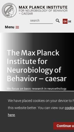 Vorschau der mobilen Webseite www.caesar.de, Stftung Caesar