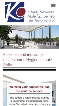 Vorschau der mobilen Webseite www.farben-kussauer.de, Kussauer, Robert