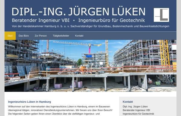 Vorschau von www.ingenieurbuero-lueken.de, Lüken, Jürgen