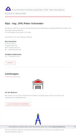 Vorschau der mobilen Webseite www.sv-schneider.de, Schneider, Peter