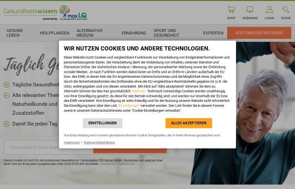 Vorschau von www.fid-gesundheitswissen.de, Fachverlag für Gesundheitswissen