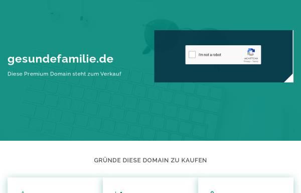 Vorschau von www.gesundefamilie.de, Gesundefamilie.de