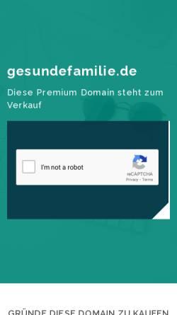 Vorschau der mobilen Webseite www.gesundefamilie.de, Gesundefamilie.de