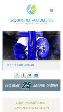 Vorschau der mobilen Webseite www.gesundheit-aktuell.de, Gesundheit aktuell