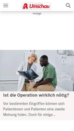 Vorschau der mobilen Webseite www.gesundheitpro.de, GesundheitPro