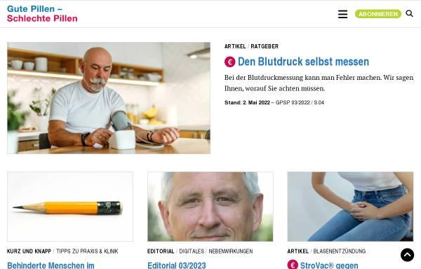 Vorschau von gutepillen-schlechtepillen.de, Gute Pillen - Schlechte Pillen