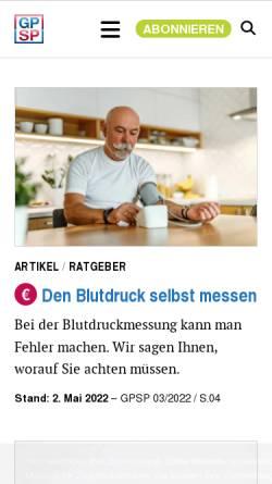 Vorschau der mobilen Webseite gutepillen-schlechtepillen.de, Gute Pillen - Schlechte Pillen