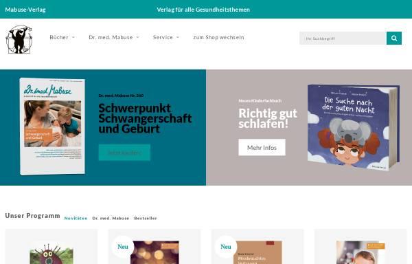 Vorschau von www.mabuse-verlag.de, Mabuse Verlag