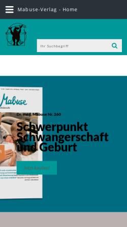 Vorschau der mobilen Webseite www.mabuse-verlag.de, Mabuse Verlag
