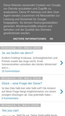 Vorschau der mobilen Webseite patricheizmann.blogspot.com, Patric Heizmann Blog