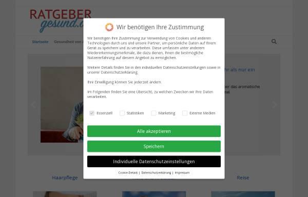 Vorschau von www.ratgebergesund.de, RatgeberGesund.de