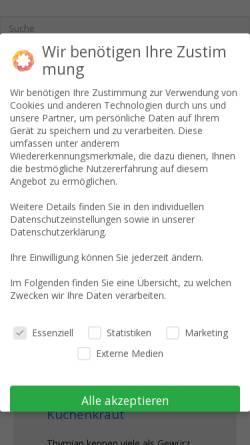 Vorschau der mobilen Webseite www.ratgebergesund.de, RatgeberGesund.de