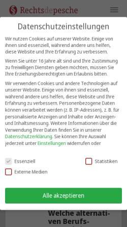 Vorschau der mobilen Webseite www.rechtsdepesche.de, Rechtsdepesche für das Gesundheitswesen