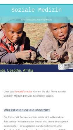 Vorschau der mobilen Webseite www.sozialemedizin.ch, Soziale Medizin