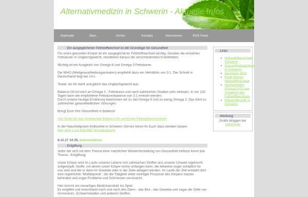 Vorschau von myblog.de, Weblog Gesundheitszentrum