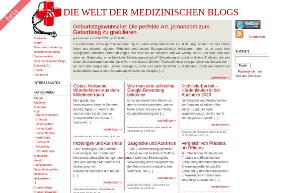 Vorschau von www.medicalblogs.de, Die Welt der medizinischen Blogs
