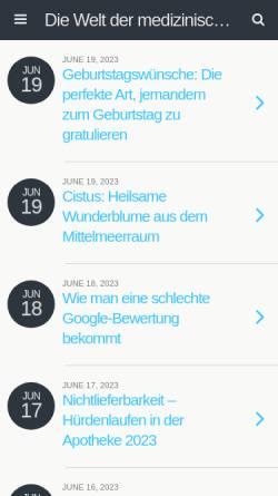Vorschau der mobilen Webseite www.medicalblogs.de, Die Welt der medizinischen Blogs