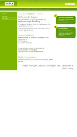 Vorschau der mobilen Webseite www.inqbus-hosting.de, Inqbus Hosting GbR, Dr. Volker Jaenisch, Maik Derstappen