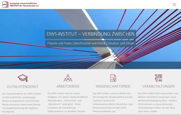 Vorschau von www.dws-institut.de, Deutsches wissenschaftliches Institut der Steuerberater Berlin e.V