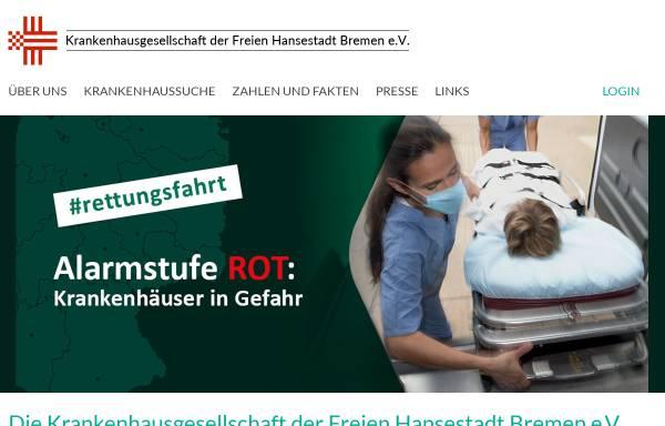 Vorschau von www.hbkg.de, Bremer Krankenhausgesellschaft