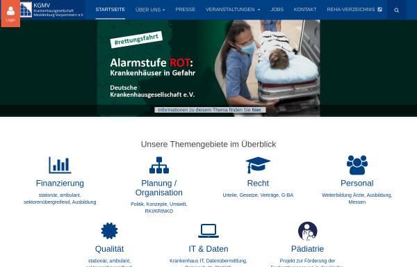 Vorschau von www.kgmv.de, Krankenhausgesellschaft Mecklenburg-Vorpommern e.V.