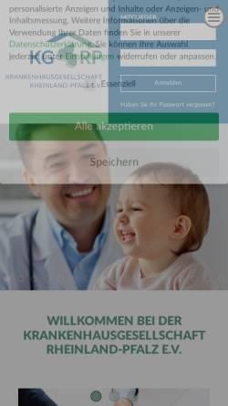 Vorschau der mobilen Webseite www.kgrp.de, Krankenhausgesellschaft Rheinland-Pfalz e.V.