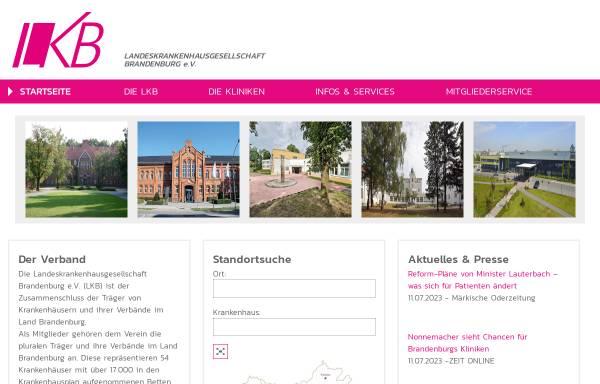 Vorschau von www.lkb-online.de, Landeskrankenhausgesellschaft Brandenburg e.V.