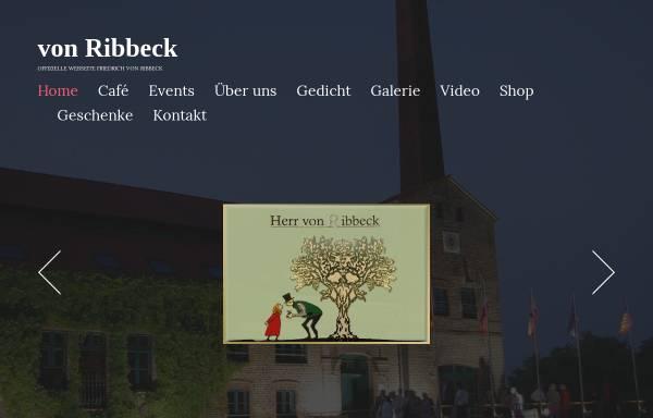 Vorschau von www.vonribbeck.de, Herr von Ribbeck auf Ribbeck im Havelland - Friedrich von Ribbeck