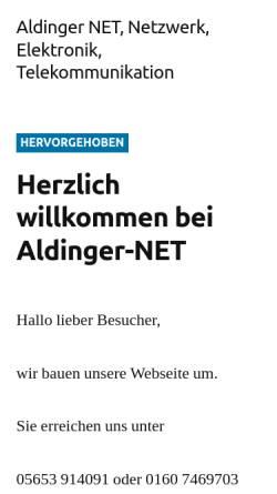 Vorschau der mobilen Webseite www.aldinger-net.de, Aldinger Consulting