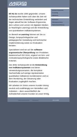 Vorschau der mobilen Webseite www.mihaso.de, IT-Security