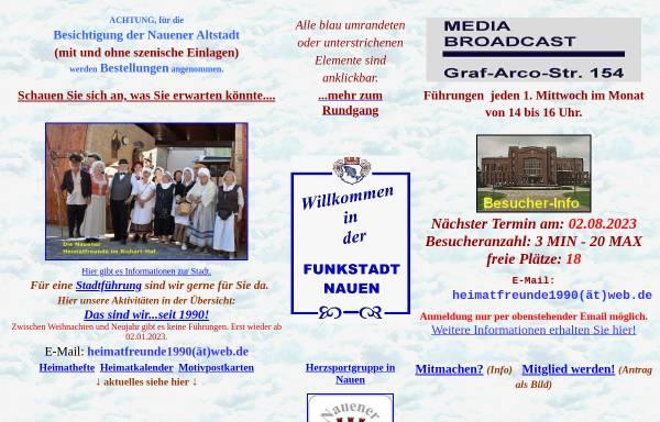 Vorschau von www.funkstadt-nauen.de, Funkstadt Nauen