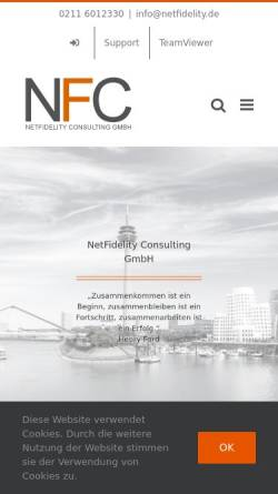 Vorschau der mobilen Webseite www.netfidelity.de, NetFidelity Consulting GmbH