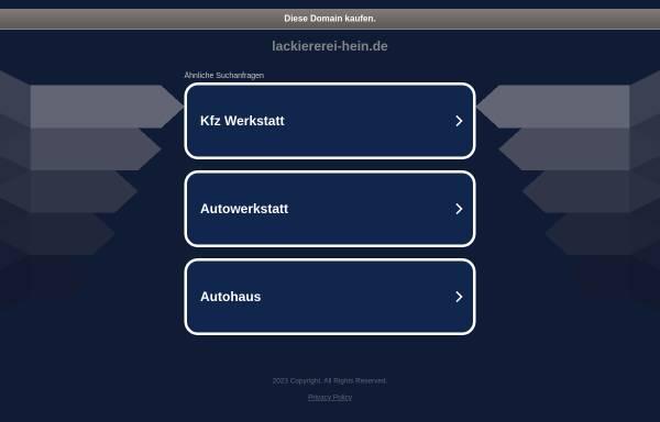 Vorschau von www.lackiererei-hein.de, Auto-Lackiererei Reinhard Hein