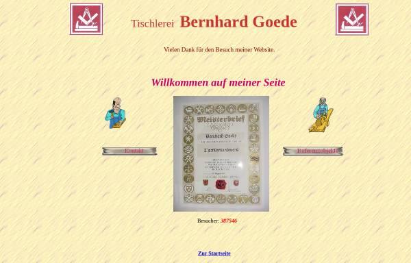 Vorschau von www.bautischlerei-goede.de, Bautischlerei Bernhard Goede