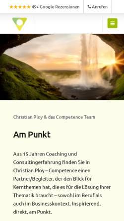 Vorschau der mobilen Webseite www.christian-ploy.at, Christian Ploy - Competence