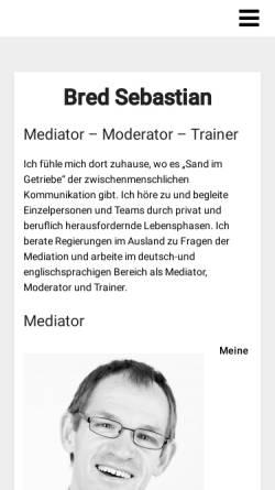 Vorschau der mobilen Webseite www.bred.at, Sebastian Bred