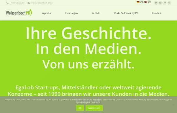 Vorschau von www.weissenbach-pr.de, Helmut Weissenbach Public Relations GmbH