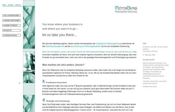 Vorschau von www.meyenburg-mb.de, Meyenburg Managementberatung