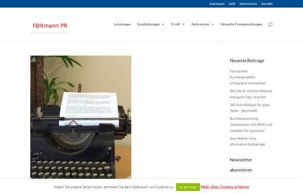 Vorschau von www.faltmann-pr.de, faltmann PR - Inh. Sabine Faltmann