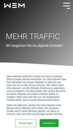Vorschau der mobilen Webseite www.mitdenken.com, Schneider Kommunikation