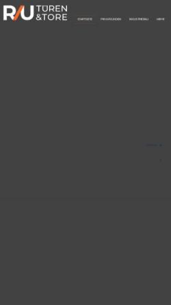 Vorschau der mobilen Webseite www.r-und-u.de, Rudolph & Umbescheidt GmbH