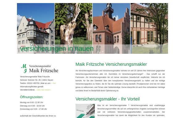 Vorschau von www.maikfritzsche.de, Versicherungsmakler Fritzsche