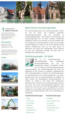Vorschau der mobilen Webseite www.maikfritzsche.de, Versicherungsmakler Fritzsche