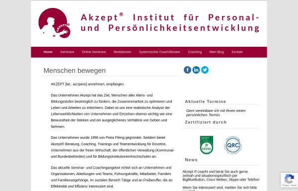 Vorschau von www.akzept-online.de, Akzept - Petra Fléing