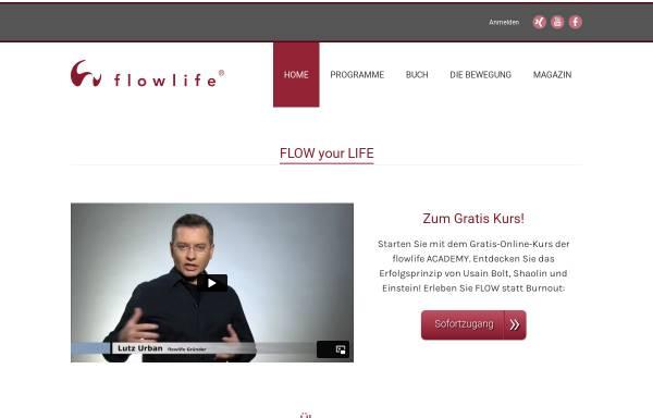 Vorschau von www.flowlife.de, Flowlife - Sinnstiftung und Akademie