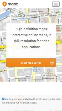 Vorschau der mobilen Webseite www.kartenwelten.de, Kober-Kümmerly+Frey Media AG
