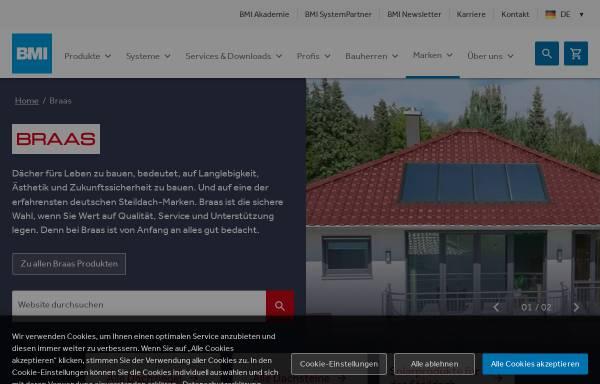 Vorschau von www.braas.de, Lafarge Dachsysteme GmbH
