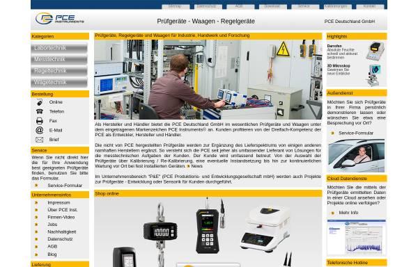Vorschau von www.warensortiment.de, PCE Deutschland GmbH