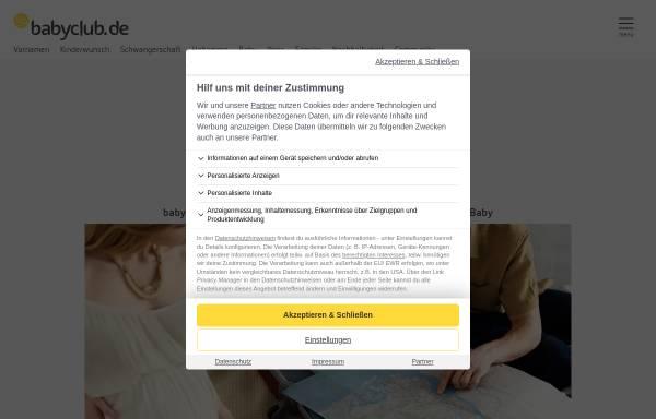 Vorschau von www.babyclub.de, Babyclub