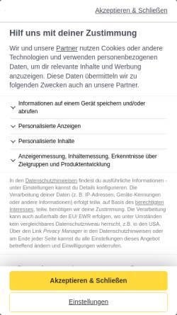 Vorschau der mobilen Webseite www.babyclub.de, Babyclub